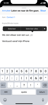 Apple iPhone X - E-mail - Bericht met attachment versturen - Stap 9