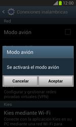 Samsung i8260 Galaxy Core - Funciones básicas - Activar o desactivar el modo avión - Paso 6