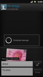 Sony Xperia U - Mensajería - Escribir y enviar un mensaje multimedia - Paso 16