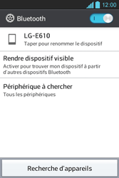 LG E610 Optimus L5 - Bluetooth - connexion Bluetooth - Étape 8