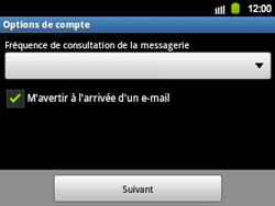 Samsung B5510 Galaxy TXT - E-mail - Configuration manuelle - Étape 12