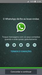 Samsung Galaxy S6 - Aplicações - Como configurar o WhatsApp -  9