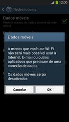 Samsung I9500 Galaxy S IV - Rede móvel - Como ativar e desativar uma rede de dados - Etapa 7