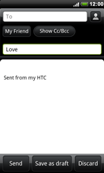 HTC S510e Desire S - E-mail - Sending emails - Step 7