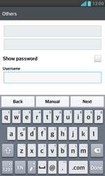 LG E975 Optimus G - Email - Manual configuration - Step 8