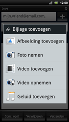 Sony Ericsson Xperia Arc S - E-mail - e-mail versturen - Stap 10