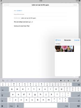 Apple iPad Pro 12.9 - iOS 11 - E-mail - Bericht met attachment versturen - Stap 10