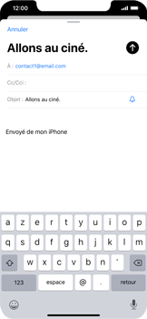 Apple iPhone XR - iOS 13 - E-mail - envoyer un e-mail - Étape 6