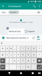 Sony Xperia XZ1 - Mensajería - Escribir y enviar un mensaje multimedia - Paso 10