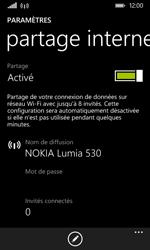Nokia Lumia 530 - Internet et connexion - Partager votre connexion en Wi-Fi - Étape 6