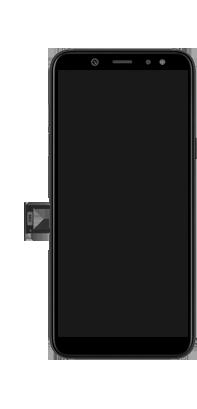 Samsung Galaxy A6 - Appareil - comment insérer une carte SIM - Étape 3