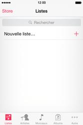 Apple iPhone 4S (iOS 8) - Photos, vidéos, musique - Ecouter de la musique - Étape 3