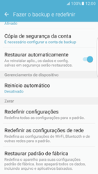 Samsung Galaxy S7 Edge - Funções básicas - Como restaurar as configurações originais do seu aparelho - Etapa 5