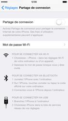Apple iPhone 6 iOS 8 - Internet et connexion - Partager votre connexion en Wi-Fi - Étape 5