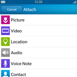 BlackBerry Q5 - Mms - Sending a picture message - Step 9