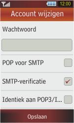 Samsung S5230 Star - E-mail - Handmatig instellen - Stap 14