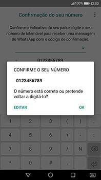 Huawei Mate 9 - Aplicações - Como configurar o WhatsApp -  10