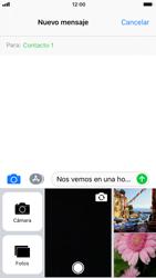 Apple iPhone 6 - iOS 11 - Mensajería - Escribir y enviar un mensaje multimedia - Paso 11