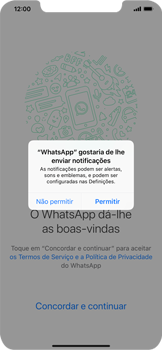 Apple iPhone XS Max - Aplicações - Como configurar o WhatsApp -  6