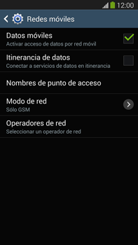 Samsung Galaxy Note 3 - Red - Seleccionar el tipo de red - Paso 9