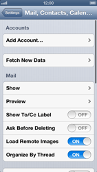 Apple iPhone 5 - E-mail - Manual configuration - Step 5