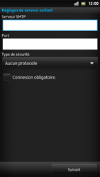 Sony LT26i Xperia S - E-mail - Configuration manuelle - Étape 13