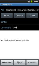 Samsung I9001 Galaxy S Plus - E-mail - Hoe te versturen - Stap 7