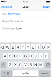 Apple iPhone 4 S iOS 7 - E-mail - E-mails verzenden - Stap 7