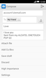 Alcatel Pop S3 (OT-5050X) - E-mail - Sending emails - Step 11