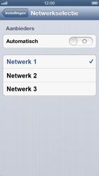 Apple iPhone 5 - Netwerk - Handmatig een netwerk selecteren - Stap 6