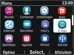 Nokia Asha 302 - E-mail - e-mail versturen - Stap 2