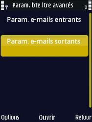 Nokia N86 - E-mail - Configuration manuelle - Étape 24