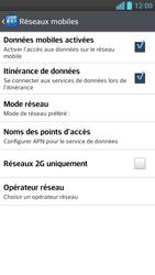 LG Optimus F6 - Aller plus loin - Désactiver les données à l'étranger - Étape 6
