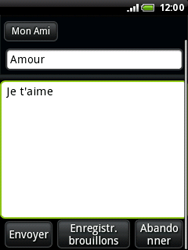 HTC A3333 Wildfire - E-mail - envoyer un e-mail - Étape 7