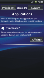 Sony Ericsson Xpéria Arc - Premiers pas - Créer un compte - Étape 6