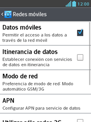 LG Optimus L3 II - Internet - Activar o desactivar la conexión de datos - Paso 6