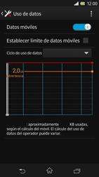Sony Xperia Z - Internet - Ver uso de datos - Paso 5