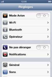 Apple iPhone 4 S - iOS 6 - Wifi - configuration manuelle - Étape 2