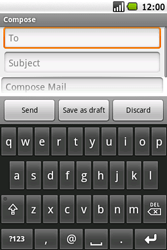 Samsung I5700 Galaxy Spica - E-mail - Sending emails - Step 6