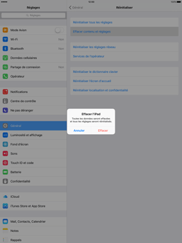 Apple iPad Pro 12.9 (1st gen) - iOS 9 - Device maintenance - Retour aux réglages usine - Étape 6