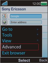 Sony Ericsson W595 - Internet - Manual configuration - Step 5