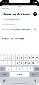 Apple iphone-x-met-ios-13-model-a1901 - E-mail - Hoe te versturen - Stap 7