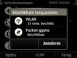 Nokia E6-00 - Wifi - handmatig instellen - Stap 8