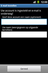 Samsung S7500 Galaxy Ace Plus - E-mail - e-mail instellen: IMAP (aanbevolen) - Stap 16
