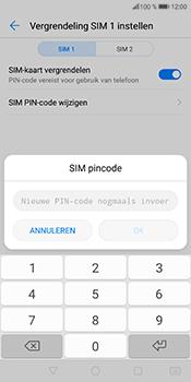 Huawei P Smart (Model FIG-LX1) - Beveiliging en ouderlijk toezicht - Hoe wijzig ik mijn SIM PIN-code - Stap 13