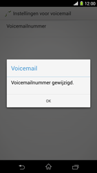 Sony D5503 Xperia Z1 Compact - Voicemail - handmatig instellen - Stap 10