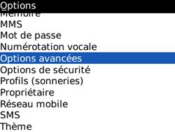 BlackBerry 8520 Curve - Paramètres - Reçus par SMS - Étape 4