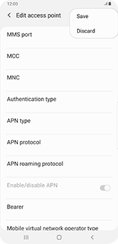 Samsung galaxy-s9-plus-android-pie - MMS - Manual configuration - Step 14