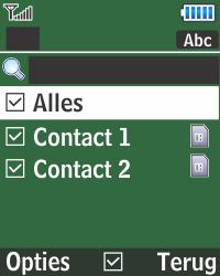 Samsung E1270 - Contacten en data - Contacten kopiëren van SIM naar toestel - Stap 7