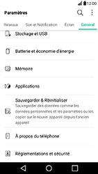 LG X Power - Device maintenance - Retour aux réglages usine - Étape 5